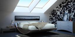 """Mazzali: """"Emiselene"""" bed / il letto """"Emiselene"""" . Bedroom area"""