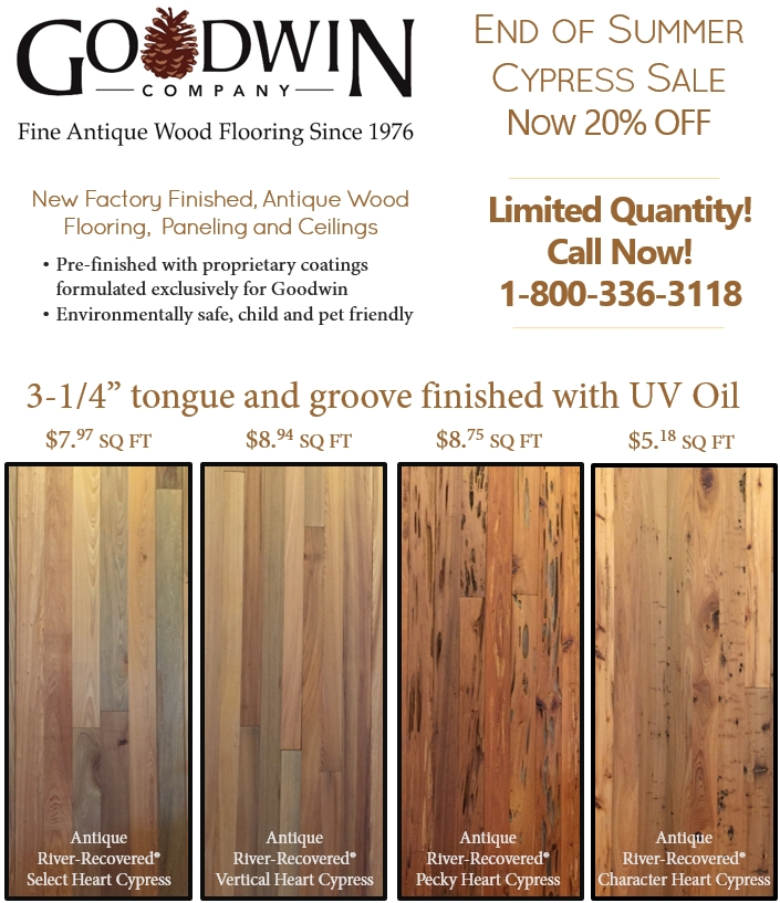 Goodwin Company announces an End of Summer Cypress Sale